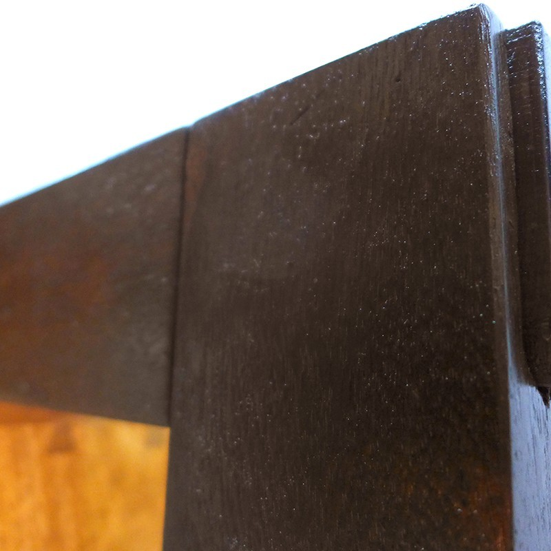 portable hanging aron kodesh for synagogue in Jerusalem exposed mortise and tenon wood join
