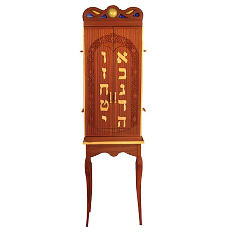 ten commandments elegant aron kodesh with chippendale legs