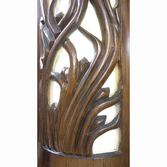 handcarved columns aron kodesh with stained glass