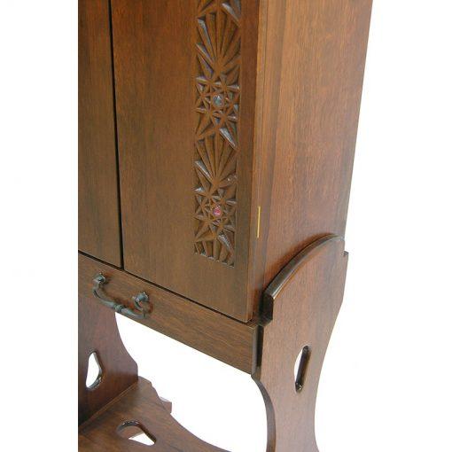 solid wood joinery details portable twelve tribes single torah wood aron kodesh
