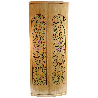 Pirke Avot Torah Cabinet with curved doors
