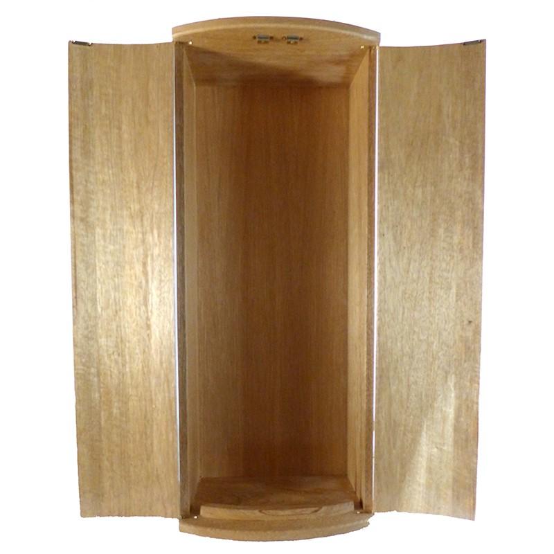 Pirke Avot Torah Cabinet open solid wood doors