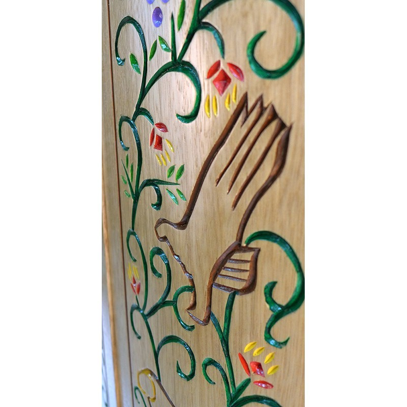Pirke Avot Torah Cabinet hand carving and painting