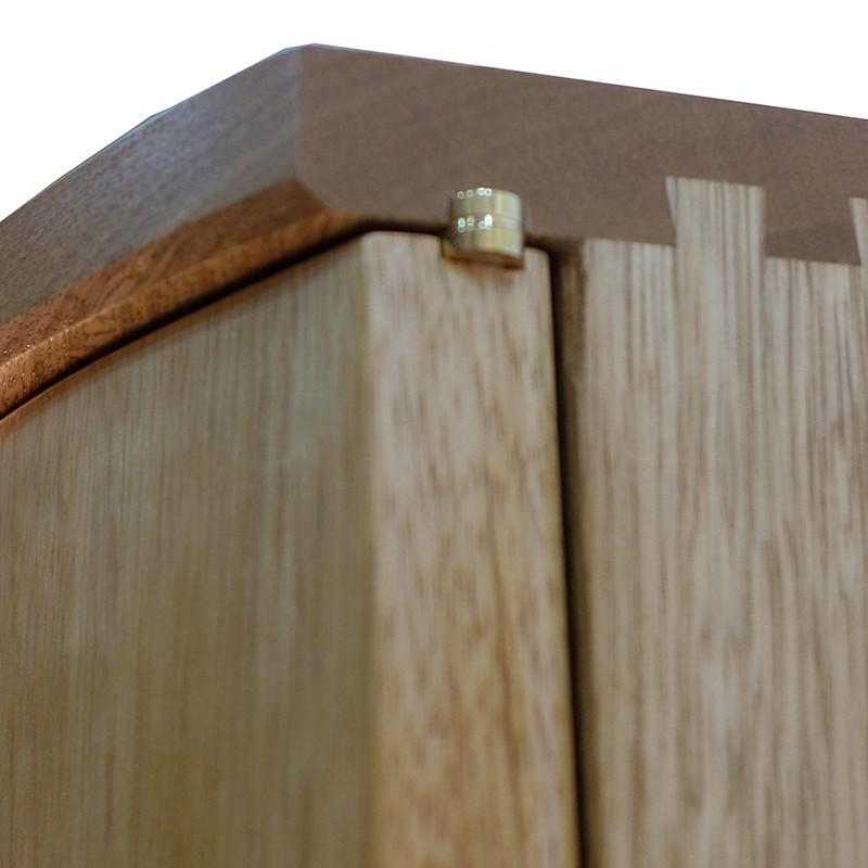 Pirke Avot Torah Cabinet dovetail joinery and brass hinges