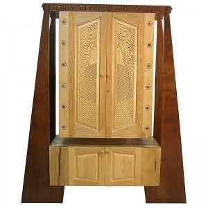 Standing at Sinai Aron Kodesh carved ark