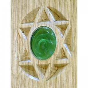 carved magen david and glass inlays