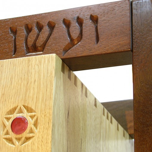 dovetail and mortise joinery on torah ark