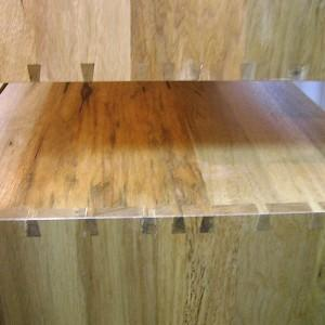solid wood dovetail joinery on boxes