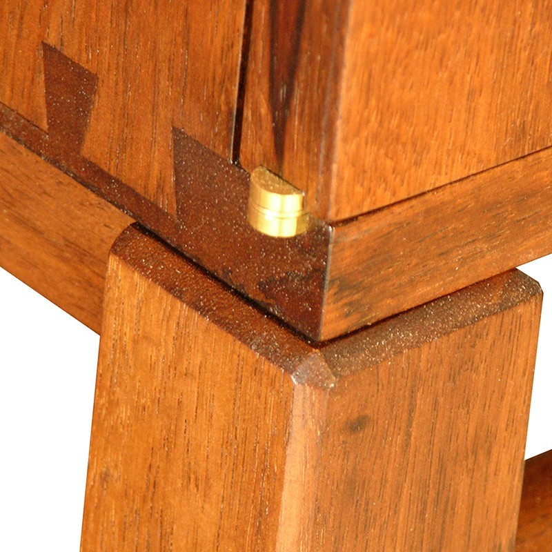 ten commandments aron kodesh detail of dovetail joinery