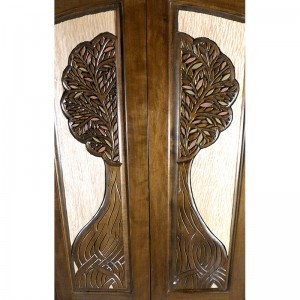 tree of life carved doors torah ark
