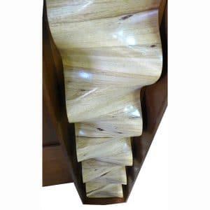 aron kodesh with hand carved waves