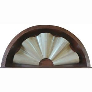 crown for carved curve wave aron kodesh