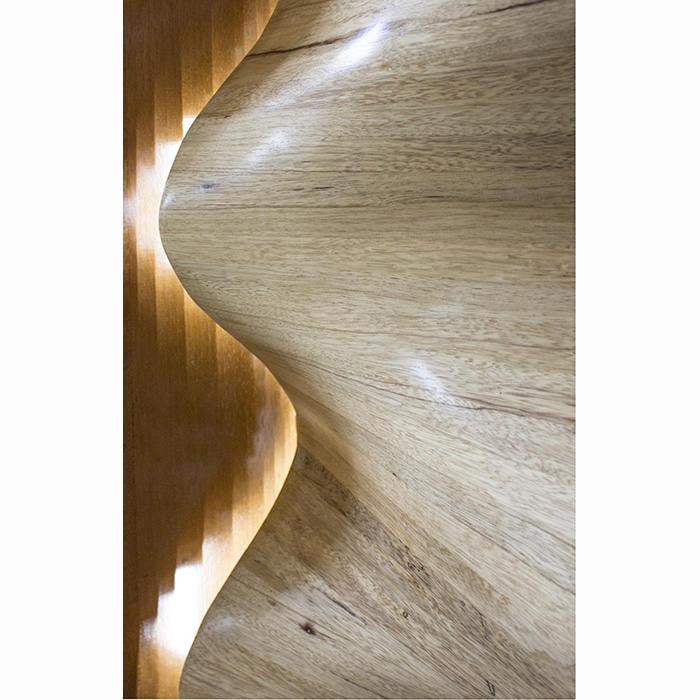 lighing in LED carved waves