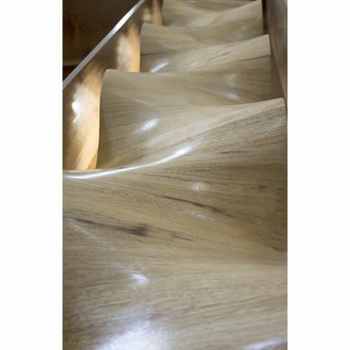 carved laminate wood waves