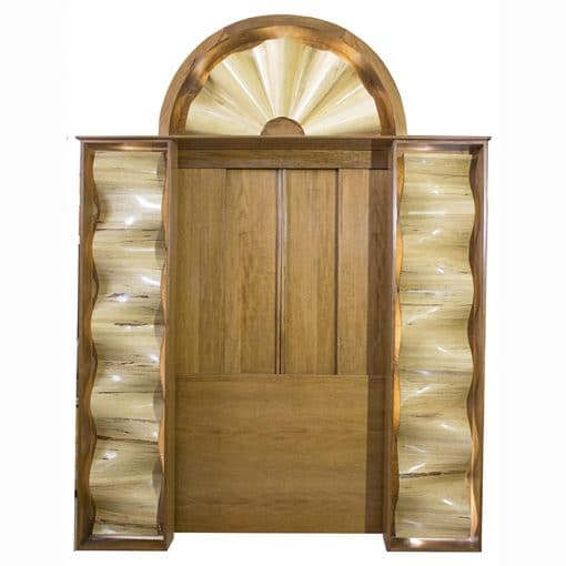 torah ark with hand carved waves