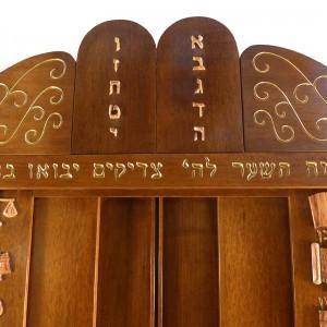 westchester torah ark with 10 commandments crown