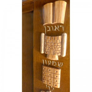 westchester torah ark with olive wood carving