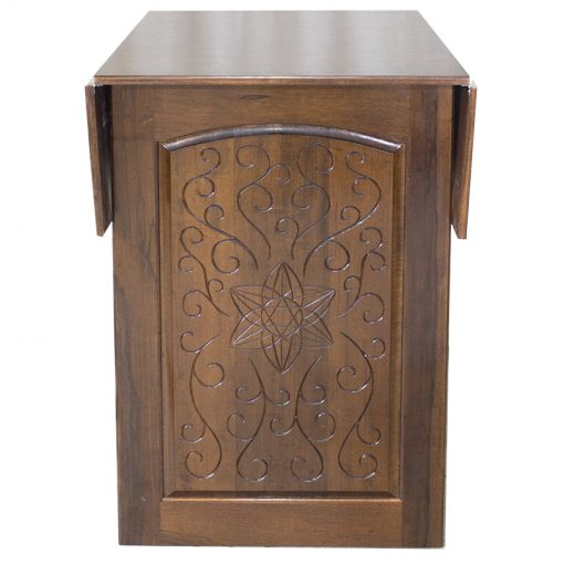 carved wood folding sides torah reading table and bimah