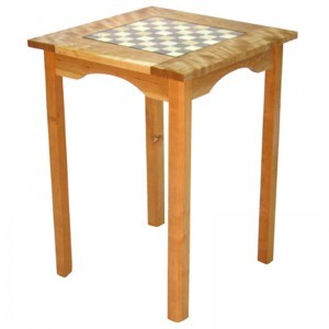 cherry wood chess table