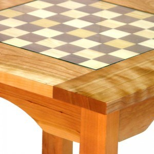 custom cherry wood chess board