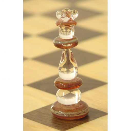 flame worked glass chess pieces