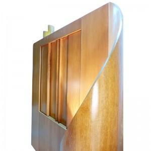 contemporary aron kodesh with lighting