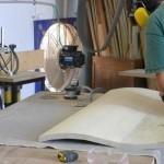 sanding curved doors