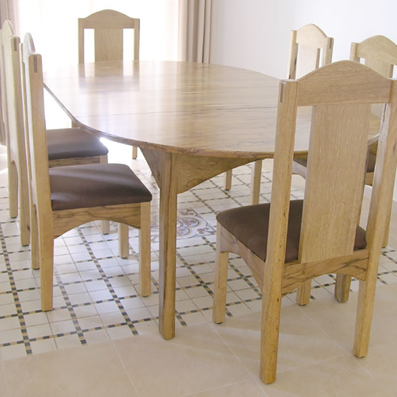 Home In Jerusalem, Israel With Solid Wood Dining Table And Chairs