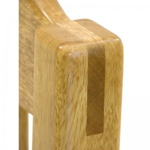 chair joinery in solid wood for dining set