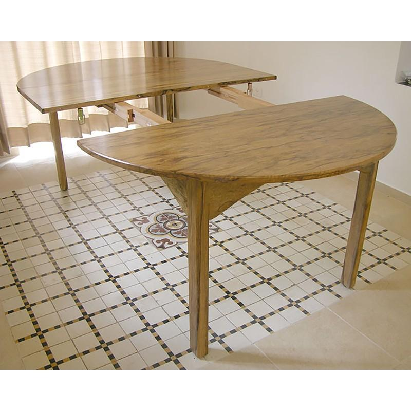 Extending Dining Room Table Built From Solid Wood For Home In Jerusalem