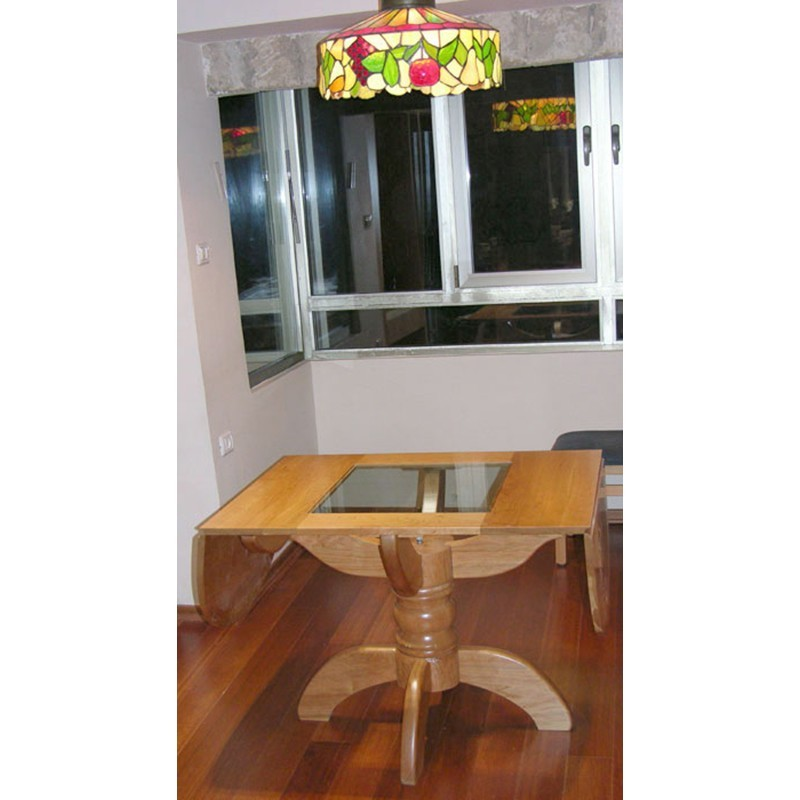Pedestal style solid wood dining table bass furniture pedestal cherry wood dining table folding sides workwithnaturefo
