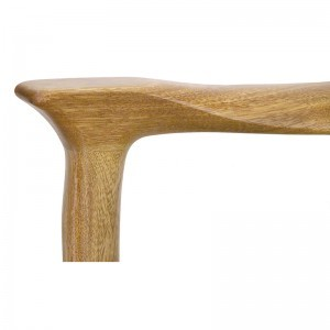 solid wood kise shel eliyahu with carving and contemporary design arm detail of joinery
