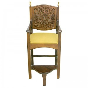 chair of elijahu hanavi kise elijahu with gold upholstered seat