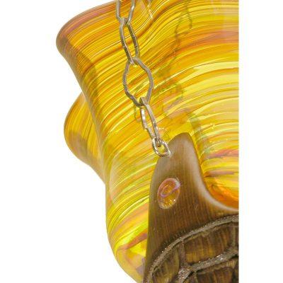 cedar eternal light with blown glass