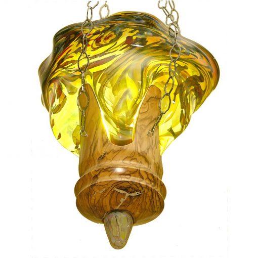 blown glass fire eternal light