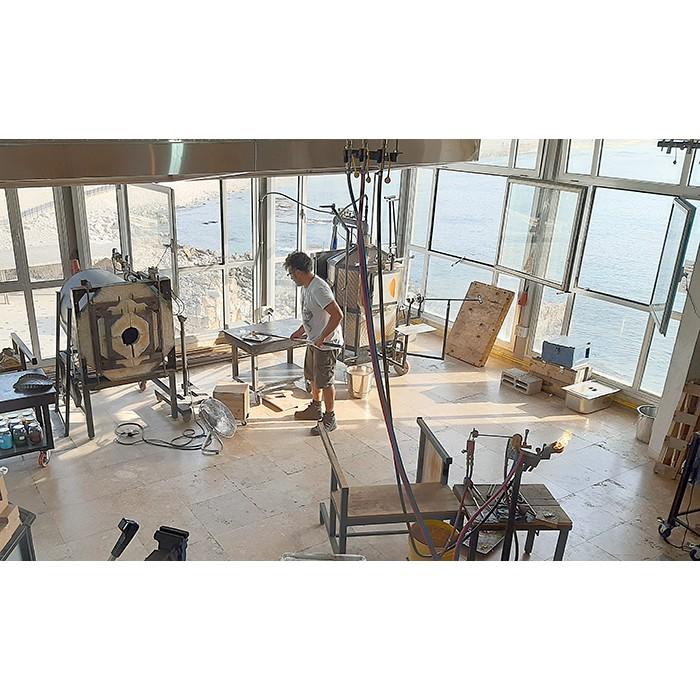 glass blowing studio in the Mediteranean sea, casarea Israel
