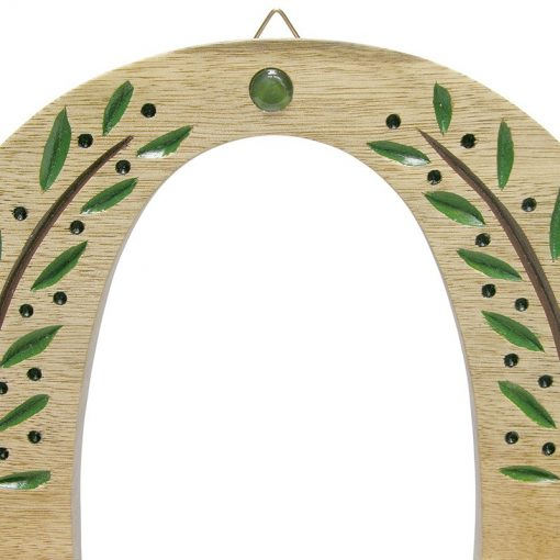 wall hung carved wood hannukiah menorah carving of olive branch