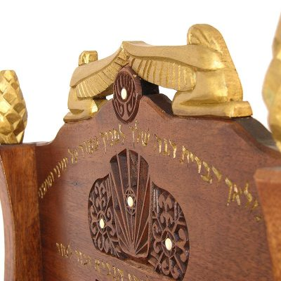 gold carved cherubim detail traditional solid wood elijah's chair