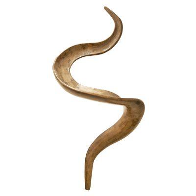 hebrew letter lamed wood sculpture