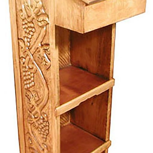 grape vine detail carving yellow cedar carved amud tefillah
