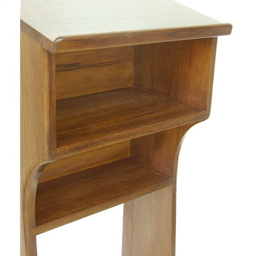 open view of box for solid wood shtender in walnut finish