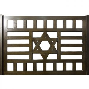 wood joinery to form star of david artistic pattern