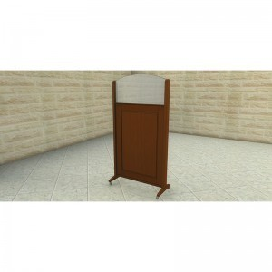 portable wood mechitza panels with one way mirror reflective from the men's side