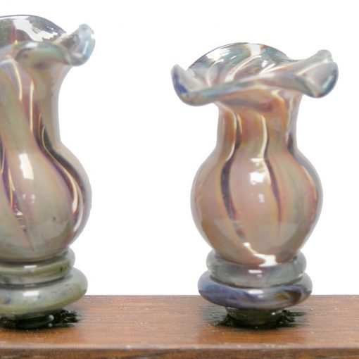blown glass flameworked candle holders for menorah