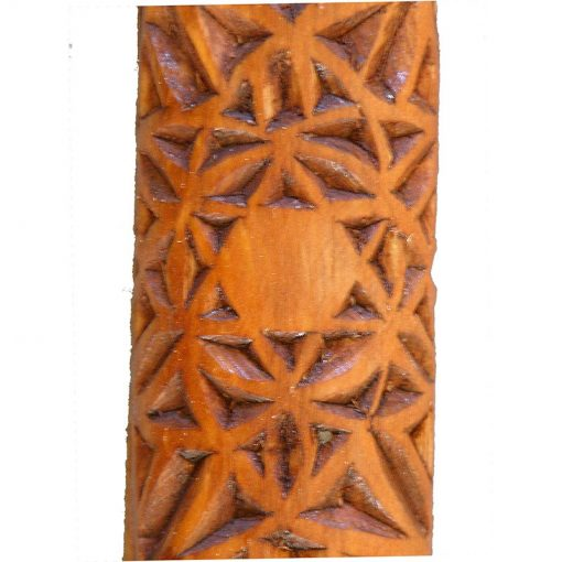 carving detail of pattern on mezuzah