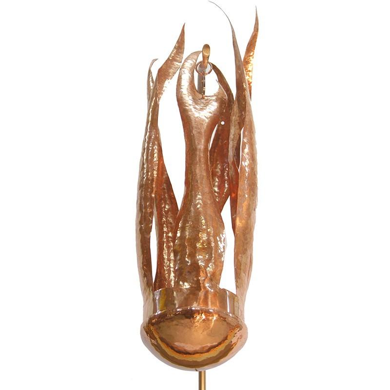 Bet Aleph Meditational Synagogue copper Ner Tamid