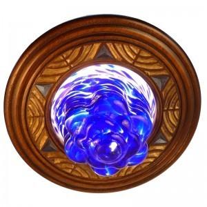 star of david magen david blown glass eternal light
