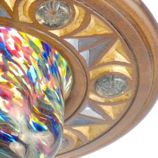blown glass in multiple colors ner tamid