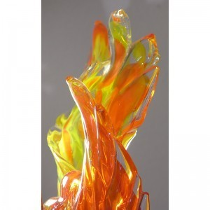 blown glass flames for ner tamid