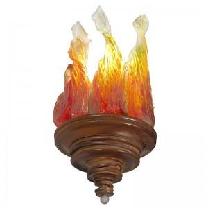 mahogany and blown glass ner tamid